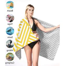 Microfiber Beach Towel Sand Free Large Beach Towels Quick Fa