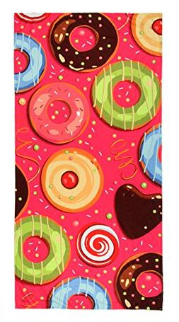 LK Starshine Outdoor Microfiber Donut Printed Beach Towel Bl