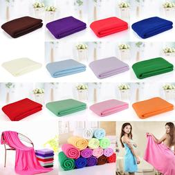 70x140cm Microfiber Fiber Bath Beach Absorbent Drying Washcl