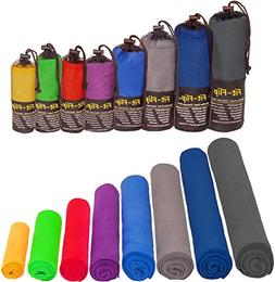 Fit-Flip Microfiber Towel in ALL Sizes / 8 Colors + Bag –