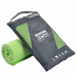 Rainleaf Microfiber Towel Perfect Sports Travel Beach Towel.