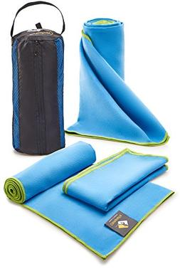Large Microfiber Towels Quick Dry Blue - Travel Fast Drying