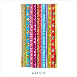 Vipsung Microfiber Ultra Soft Hand Towel-Striped Colorful Re