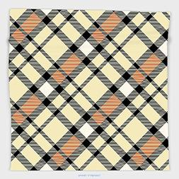 Vipsung Microfiber Ultra Soft Hand Towel-Geometric Decor Abs
