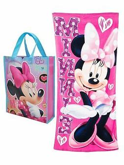 Officially Licensed Disney Minnie Mouse 58x28 Beach Towel Pi