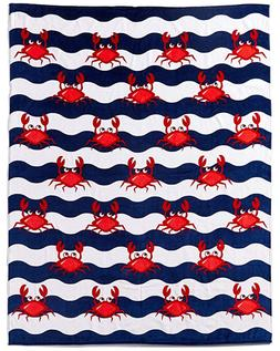 multi crabs beach towel for two new