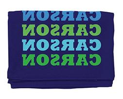 Name In Brights Navy Boy Personalized Beach Towel | Kids Tow