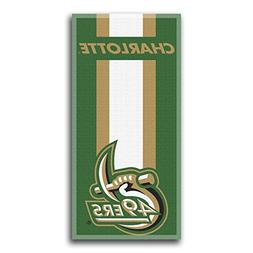 ncaa unc charlotte beach towel
