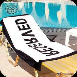 Large Fun RESERVED Bath Sheet, Beach Lounge Pool Sun Lounger