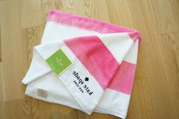 New Oversized 40x70 Kate Spade New York Beach Towel Pink Whi