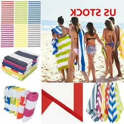 New Striped EXTRA Large Microfiber Beach Towel  Towels Light