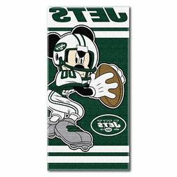 New York Jets Mickey Mouse YOUTH Beach Towel