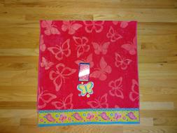 "New Youth Size 30"" x 60""  Beach Pool Towel Pink Butterfly De"