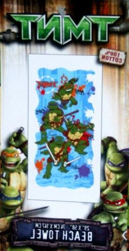 Ninja Turtle Movie Beach Towel 29 x 58 inch Made 2008 New