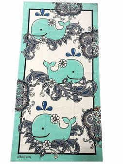 NWT Vera Bradley Beach Towel FAN FLOWERS WITH WHALE New Patt