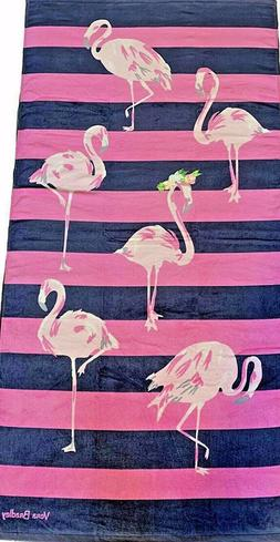 NWT Vera Bradley Beach Towel FLAMINGO FIESTA New Pattern NWT