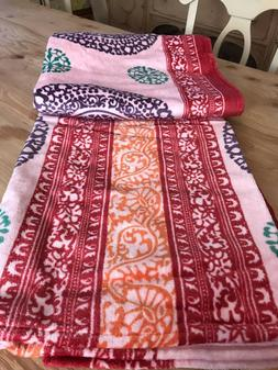 NWT Free People Oversized 66 x 60 Pink Pattern Beach Towel