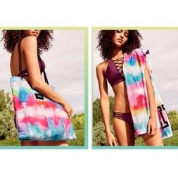 "NWT Victorias Secret PINK ""PINK"" 28"" X 58"" Beach Towel Tote"