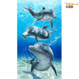 HUGSIDEA Ocean <font><b>Animals</b></font> Cotton Bath <font