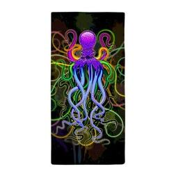 CafePress Octopus Psychedelic Luminescence Beach Towel