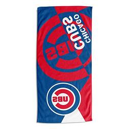 """Officially Licensed MLB Chicago Cubs Puzzle Beach Towel, 34"""""""