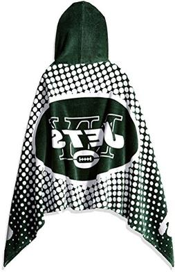 Officially Licensed NFL New York Jets Youth Hooded Beach Tow