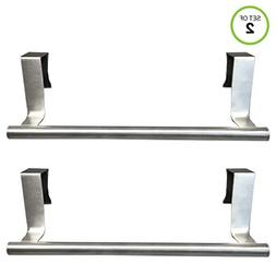 Evelots Towel Bars-Kitchen-Bathroom-in or Out Cabinet Door-S