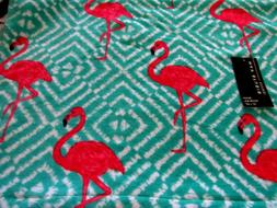 MAX STUDIO OVERSIZED Beach Towel TURQUOISE HOT PINK FLAMINGO