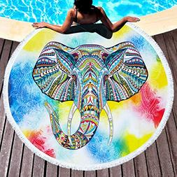 FLY SPRAY Oversized Thick Round Beach Towel Blanket with Tas