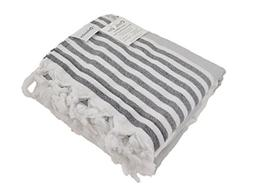Oversized Turkish Towel, Soft Terry Cloth Back, Striped Turk