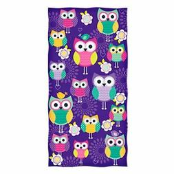Owl Design Beach Towel