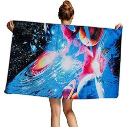 TUONROAD Packable Travel Towel Unique Cool Galaxy Space Patt
