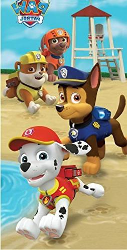 Paw Patrol Beach Towel For Kids - Paw Patrol Puppy Run Theme