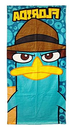 Disney Perry The Platypus Beach or Bath Towel - Florida Prin