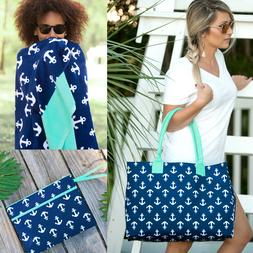 PERSONALIZED ANCHOR BEACH TRAVEL TOTE BAG, TOWEL or WATER RE