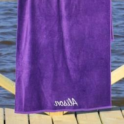 "Personalized Any Name Purple 30"" x 60"" Beach Towel, Cotton L"