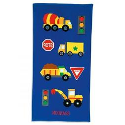 Lillian Vernon Personalized Kids Truck Cotton Beach Towel fo