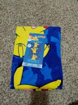 POKEMON PIKACHU BEACH TOWEL NEW!
