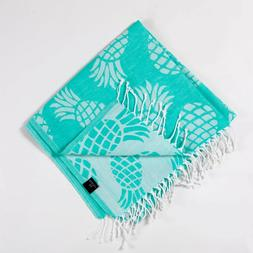 Pineapple Beach Towel, Sand Free 100% Cotton Soft Absorbent