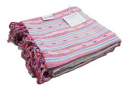 Pink & Fuchsia Absorbent Peshtemal Turkish Bath Sheet, Beach