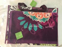plum crazy beach towel and market tote