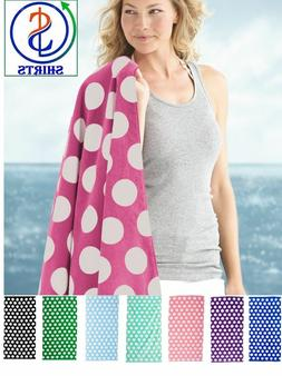 Carmel Towel Company - Polka Dot Velour Beach Towel - C3060P