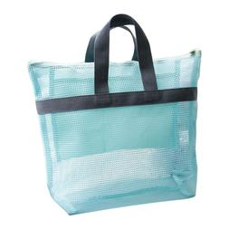 Portable Mesh Beach Storage Bag Swimsuit Towel Tote Toys Han