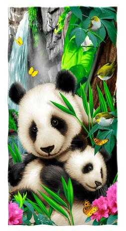 Precious Pandas Cotton Beach Towel