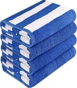Utopia Towels Premium Quality Cabana Beach - Pack of 4 Strip