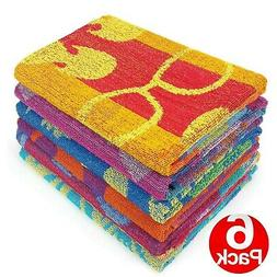 KAUFMAN -PROMO ASSORTED JACQUARD BEACH and POOL TOWEL. PACK