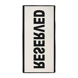 CafePress Reserved Beach Towel