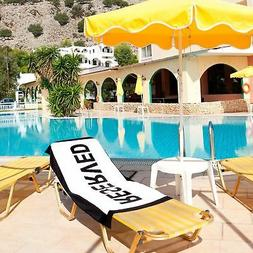Reserved Holiday Beach Towel - Grab That Sun Lounger! Large