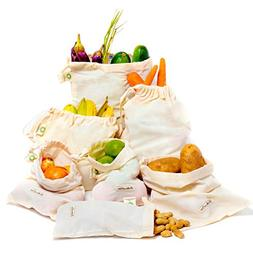 Reusable Vegetable Produce Bags - Cotton produce Bag - Cotto