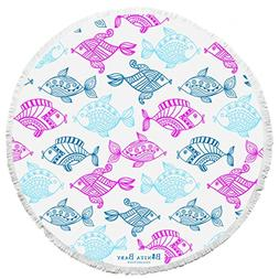 BONITA BEACH COLLECTION Round Baby Beach Towel | 100% Cotton